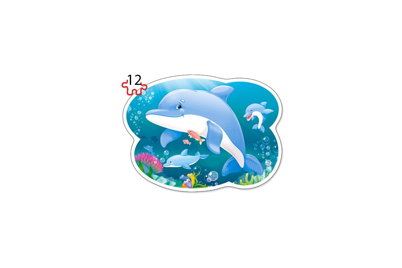 Puzzle Castorland 4 in 1 Contur - Underwater World, 8/12/15/20 Piese
