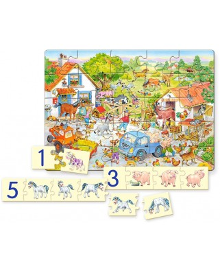 Puzzle Castorland Educativ - Counting On The Farm