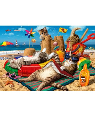 Puzzle Anatolian - Steve Read: Cats On The Beach, 260 piese (ANA.3322)