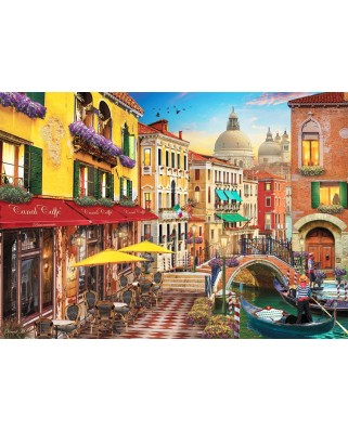 Puzzle Anatolian - David Mc Lean: Canal Cafe Venice, 1500 piese (ANA.4553)