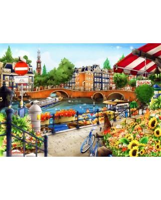 Puzzle Bluebird - Amsterdam, 1500 piese (70143)