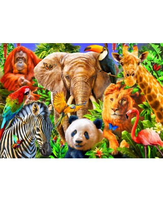 Puzzle Bluebird - Animals For Kids, 500 piese (70187)