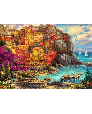 Puzzle Bluebird - Chuck Pinson: A Beautiful Day At Cinque Terre, 2.000 piese (70055)