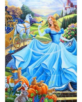 Puzzle Bluebird - Cinderella, 1000 piese (70085)