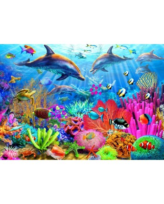 Puzzle Bluebird - Dolphin Coral Reef, 1.000 piese (70169)