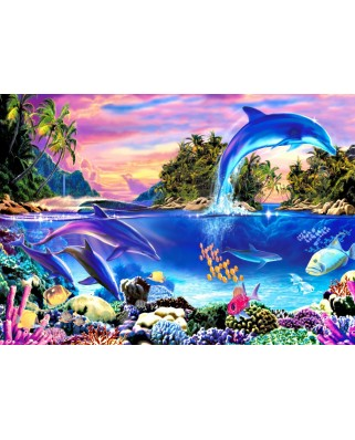 Puzzle Bluebird - Dolphin Panorama, 500 piese (70132)