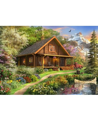 Puzzle Bluebird - Dominic Davison: A Log Cabin Somewhere In North America, 500 piese (70118)