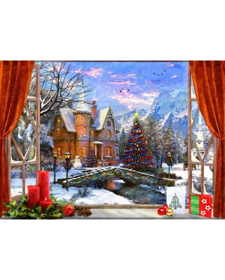 Puzzle Bluebird - Dominic Davison: Christmas Mountain View, 1500 piese (70190)