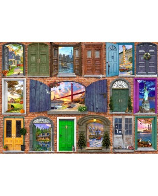 Puzzle Bluebird - Dominic Davison: Doors Of USA, 2000 piese (70116)