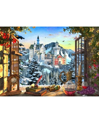 Puzzle Bluebird - Dominic Davison: Mountain Castle, 1.000 piese (70122)