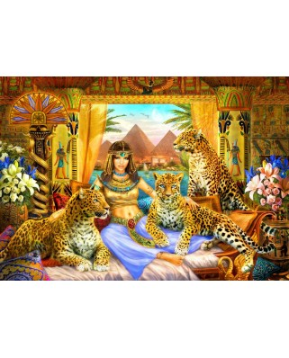 Puzzle Bluebird - Egyptian Queen Of The Leopards, 2.000 piese (70198)