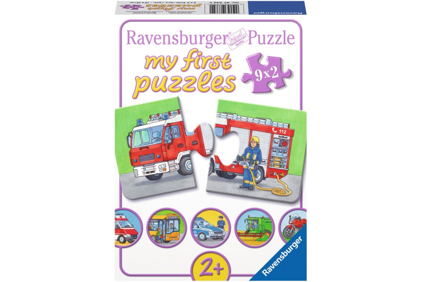 Puzzle Ravensburger - Vehicule Motorizate, 9x2 piese (07332)
