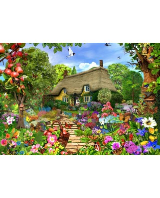 Puzzle Bluebird - English Cottage Garden, 1500 piese (70141)