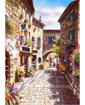Puzzle Bluebird - Eze Village, 1.000 piese (70056)