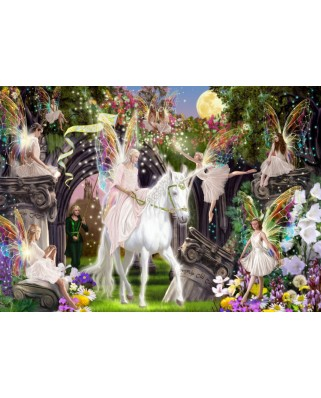 Puzzle Bluebird - Fairy Queen With Unicorn, 1.000 piese (70114)