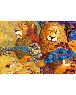 Puzzle Bluebird - Galchutt David: Leonine Tapestry, 1.000 piese (70091)