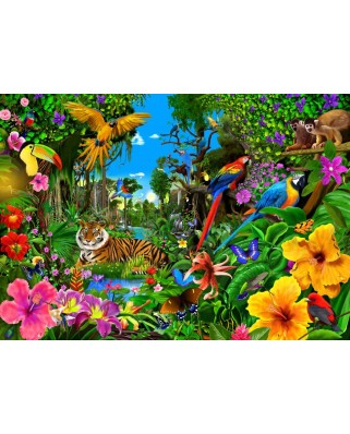 Puzzle Bluebird - Jungle Sunrise, 1500 piese (70150)