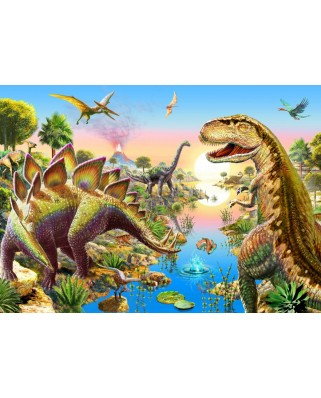 Puzzle Bluebird - Jurassic River, 500 piese (70157)