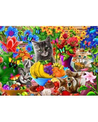 Puzzle Bluebird - Kitten Fun, 1.000 piese (70183)