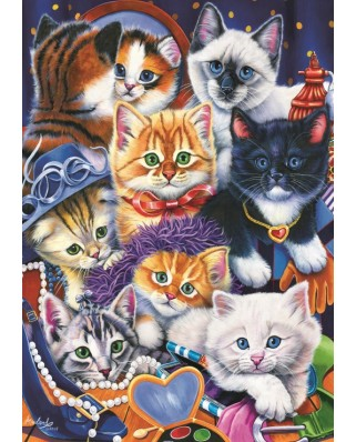 Puzzle Bluebird - Kittens In Closet, 1.000 piese (70087)