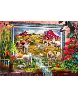 Puzzle Bluebird - Magic Farm Painting, 1.000 piese (70029)