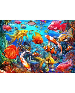 Puzzle Bluebird - Marchetti Ciro: Tropical Fish, 1500 piese (70192)