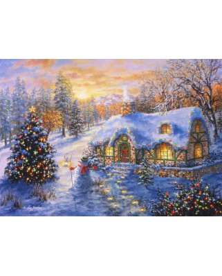 Puzzle Bluebird - Nicky Boehme: Christmas Cottage, 2.000 piese (70065)