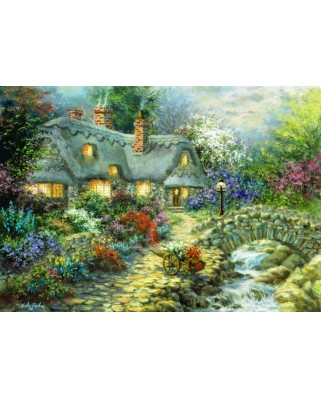 Puzzle Bluebird - Nicky Boehme: Country Cottage, 1000 piese (70064)