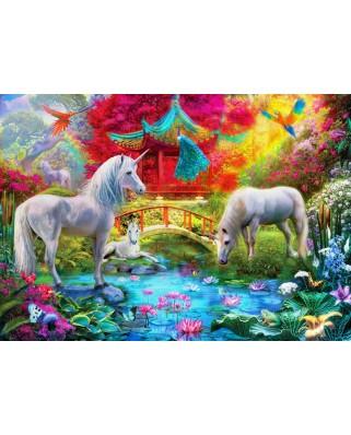 Puzzle Bluebird - Oriental Unicorns, 1.000 piese (70148)