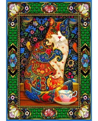 Puzzle Bluebird - Painted Cat, 1500 piese (70152)