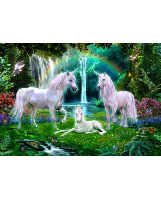 Puzzle Bluebird - Rainbow Unicorn Family, 1000 piese (70193)