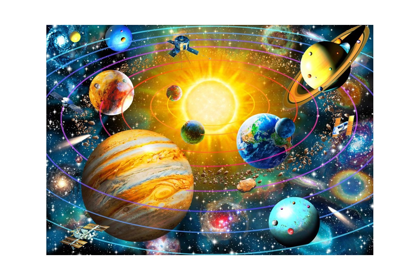 Puzzle Bluebird - Ringed Solar System, 1500 piese (70188)