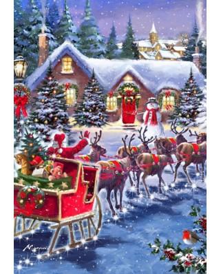 Puzzle Bluebird - Santa And Sleigh, 1.000 piese (70073)
