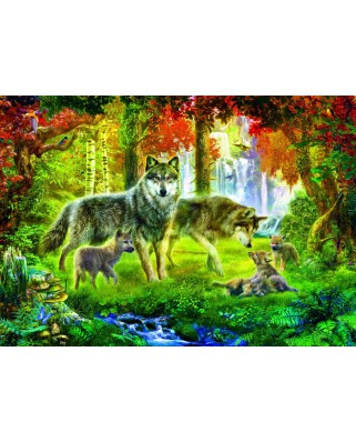 Puzzle Bluebird - Summer Wolf Family, 1.000 piese (70156)