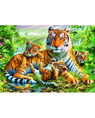 Puzzle Bluebird - Tiger And Cubs, 1500 piese (70137)