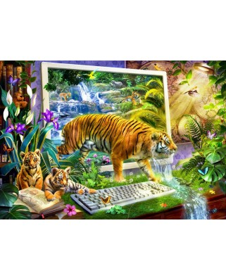 Puzzle Bluebird - Tiger Coming To Life, 1500 piese (70200)