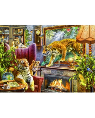 Puzzle Bluebird - Tigers Coming To Life, 2000 piese (70171)