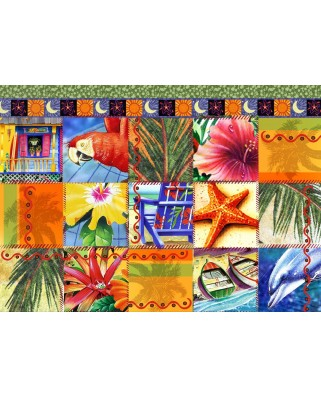 Puzzle Bluebird - Tropical Quilt Mosaic, 1500 piese (70081)