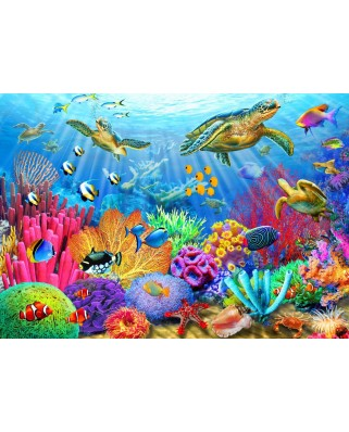Puzzle Bluebird - Turtle Coral Reef, 1.000 piese (70159)