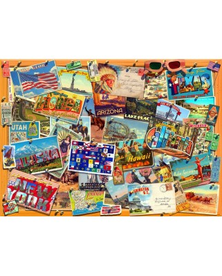 Puzzle Bluebird - USA Postcard, 3.000 piese (70170)