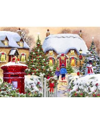 Puzzle Bluebird - Winter Cottage, 1.000 piese (70076)