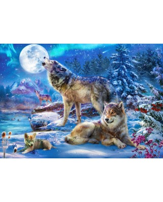 Puzzle Bluebird - Winter Wolf Family, 1500 piese (70147)