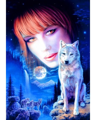 Puzzle Bluebird - Wolf Girl, 1.000 piese (70133)