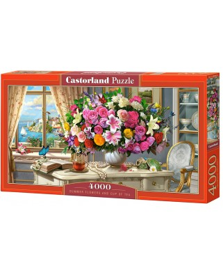 Puzzle Castorland - Summer Flowers And Cup Of Tea, 4.000 piese (400263)
