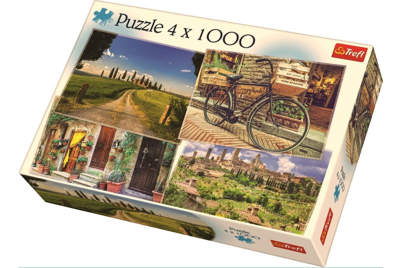 Puzzle Trefl - Italia, 4x1.000 piese (90673)