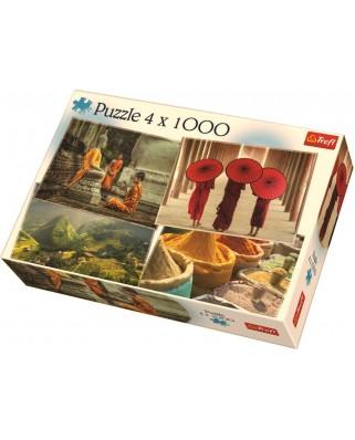 Puzzle Trefl - Asia, 4x1.000 piese (90675)