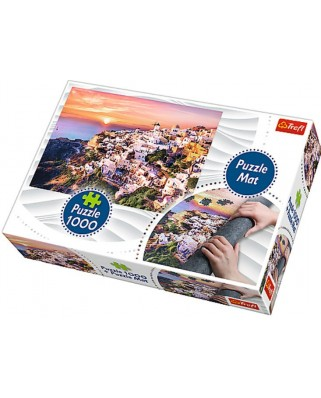 Puzzle Trefl - Italia, 1000 piese, include covor pentru rulat puzzle (90722)