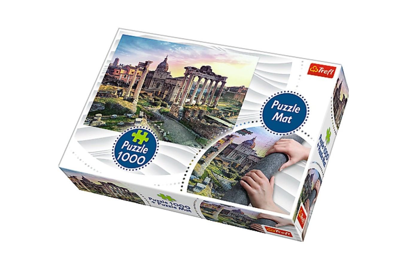 Puzzle Trefl - Italia, 1000 piese, include covor pentru rulat puzzle (90723)