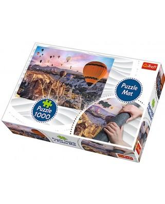 Puzzle Trefl - Baloane, 1000 piese, include covor pentru rulat puzzle (90725)