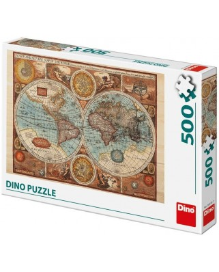 Puzzle Dino - Ancient World Map, 1626, 500 piese (65149)